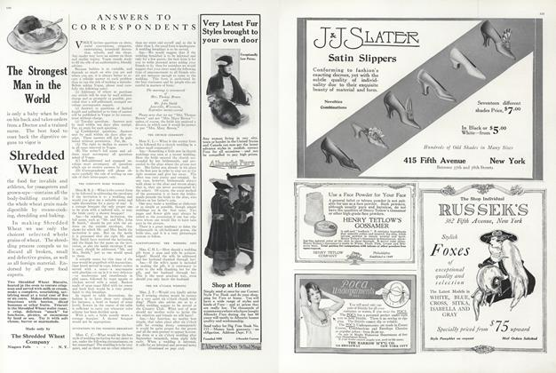 Article Preview: Answers to Correspondents, November 1 1915 | Vogue