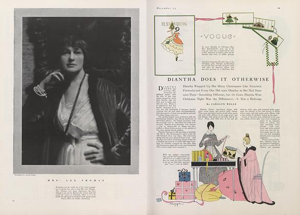 Article Preview: Diantha Does It Otherwise, December 15 1915 | Vogue