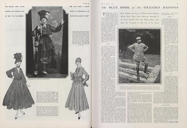 Article Preview: The Blue Book of the Grandes Maisons, December 15 1915 | Vogue