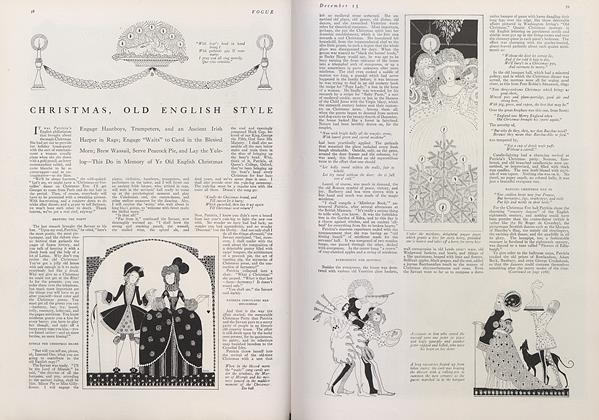 Article Preview: Christmas, Old English Style, December 15 1915 | Vogue