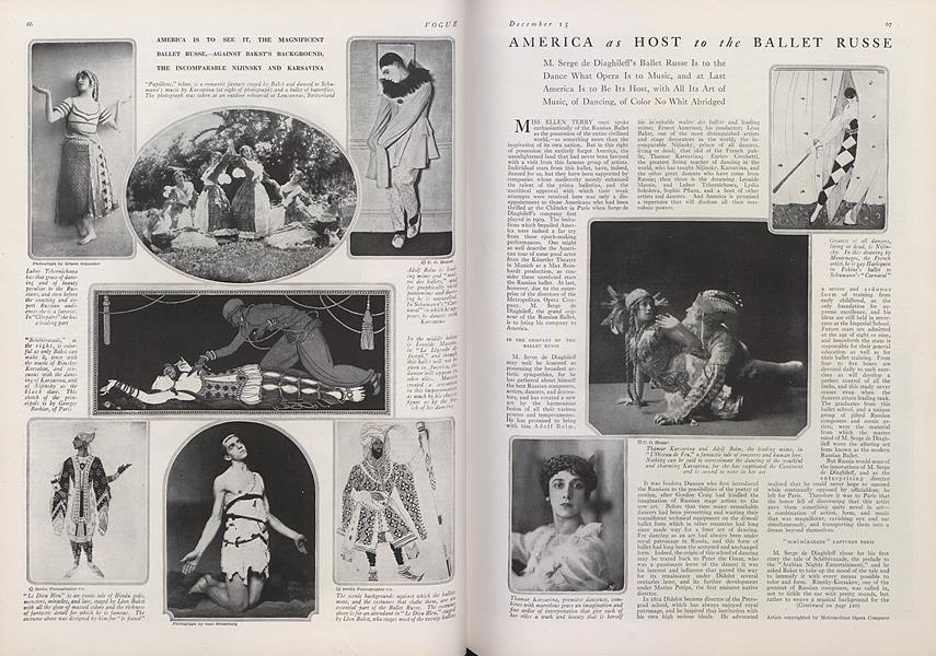 America as Host to the Ballet Russe