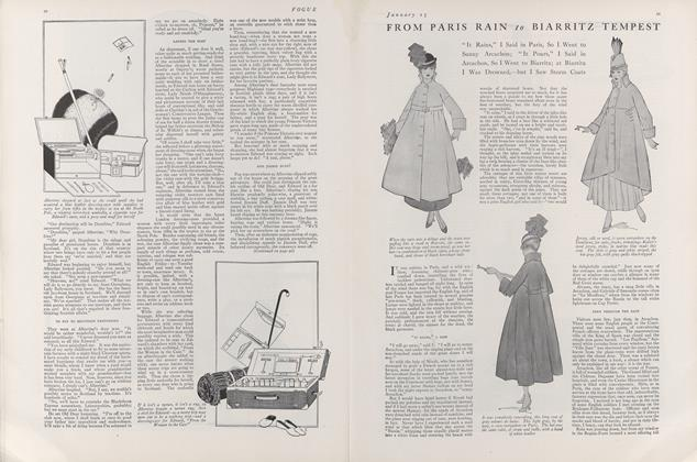 Article Preview: From Paris Rain to Biarritz Tempest, January 15 1916 | Vogue