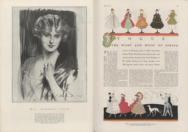 Article Preview: The Warp and Woof of Spring, March 1 1916 | Vogue