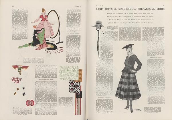 Article Preview: Paris Fetes the Soldiers and Prepares the Mode, March 1 1916 | Vogue