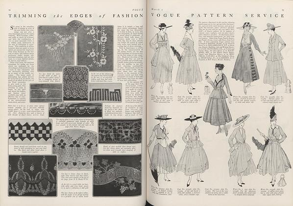 Article Preview: Vogue Pattern Service, March 1 1916 | Vogue
