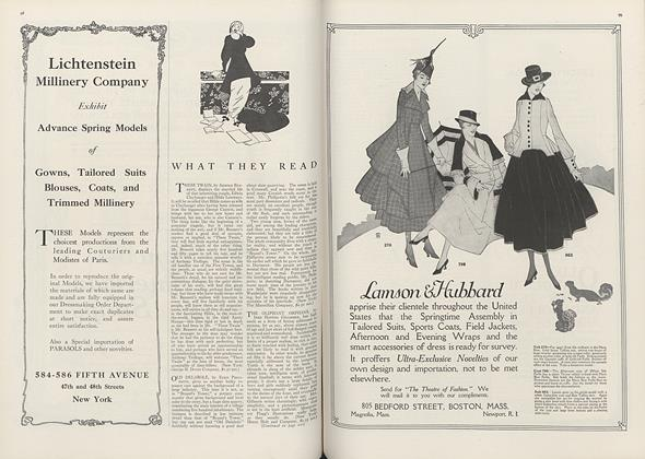 Article Preview: What They Read, March 1 1916 | Vogue