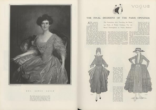 Article Preview: The Final Decisions of the Paris Openings, April 1 1916 | Vogue