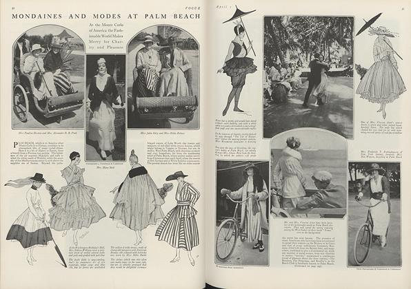 Article Preview: Mondaines and Modes at Palm Beach, April 1 1916 | Vogue