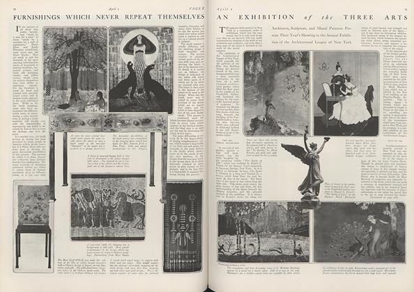Article Preview: An Exhibition of the Three Arts, April 1 1916 | Vogue