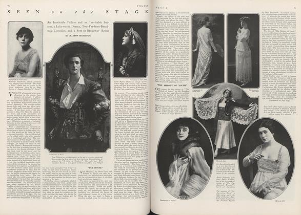 Article Preview: Seen on the Stage: An Inevitable Failure and an Inevitable Success, a Luke-warm Drama, Two Far-from-Broadway Comedies, and a Seen-on-Broadway Revue, April 1 1916 | Vogue