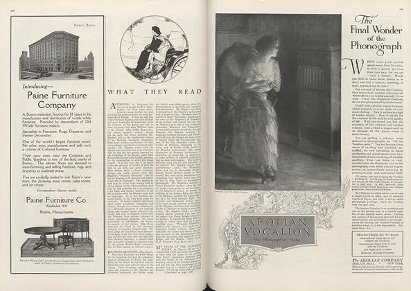 Article Preview: What They Read, April 1 1916 | Vogue