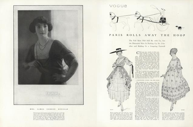 Article Preview: Paris Rolls Away the Hoop, June 15 1916 | Vogue