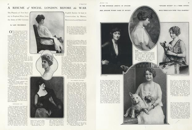 Article Preview: A Resume of Social London Before the War, June 15 1916 | Vogue