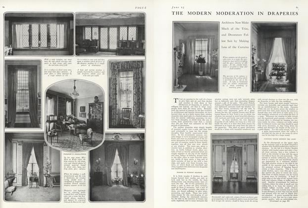 Article Preview: The Modern Moderation in Draperies, June 15 1916 | Vogue