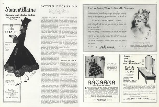 Article Preview: Pattern Descriptions, June 15 1916 | Vogue