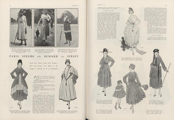Article Preview: Paris Spends the Summer in Jersey, August 1 1916 | Vogue