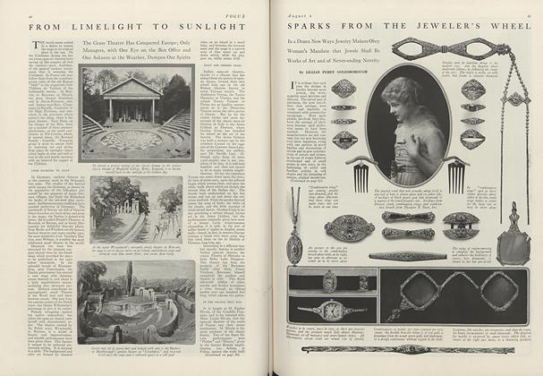 Article Preview: Sparks from the Jeweler's Wheel, August 1 1916 | Vogue
