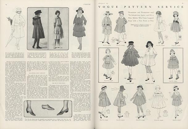 Vogue Pattern Service: To-morrow and To-morrow—and 'Tis School-time Again...
