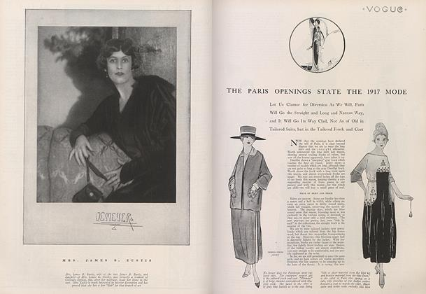 The Paris Openings State the 1917 Mode