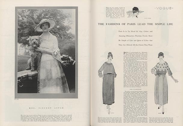 The Fashions of Paris Lead the Simple Life