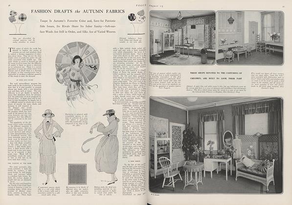 Fashion Drafts the Autumn Fabrics