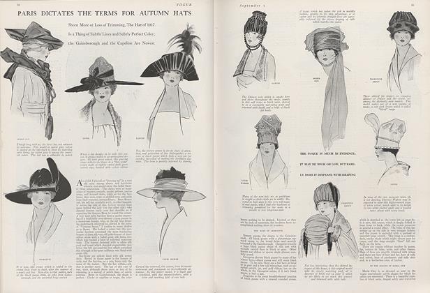 Paris Dictates the Terms for Autumn Hats