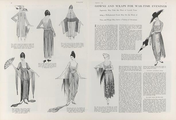 Gowns and Wraps for War-Time Evenings