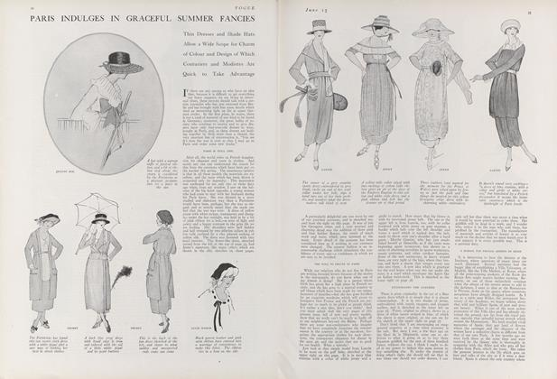 Article Preview: Paris Indulges in Graceful Summer Fancies, June 15 1918 | Vogue