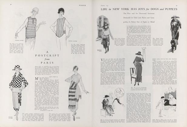 Article Preview: A Postcript from Paris, June 15 1918 | Vogue