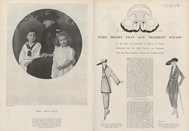 Paris Frocks That Saw President Wilson
