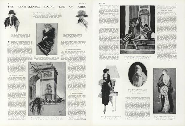 Article Preview: The Reawakening Social Life of Paris, May 15 1919 | Vogue