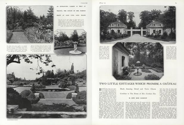 Article Preview: Two Little Cottages Which Promise a Chateau, May 15 1919 | Vogue