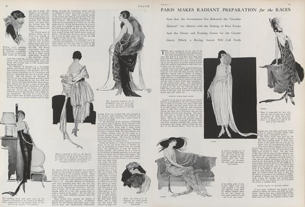 Article Preview: Paris Makes Radiant Preparation for the Races, June 1 1919 | Vogue