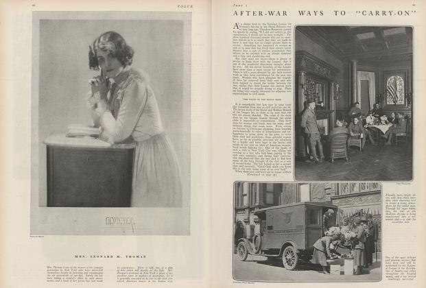 "Article Preview: After-War Ways to ""Carry-On"", June 1 1919 