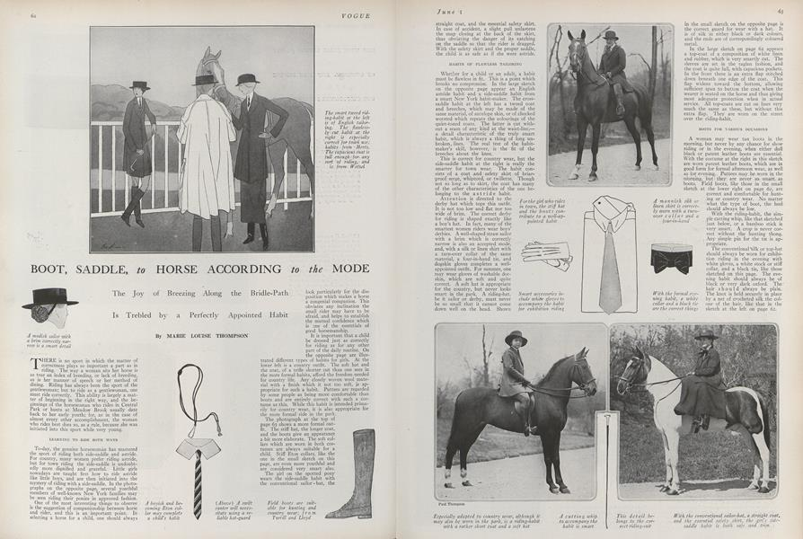 Boot, Saddle, to Horse According to the Mode