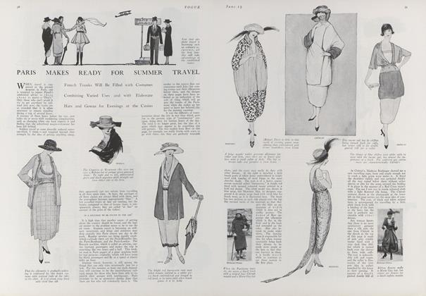 Article Preview: Paris Makes Ready for Summer Travel, June 15 1919 | Vogue