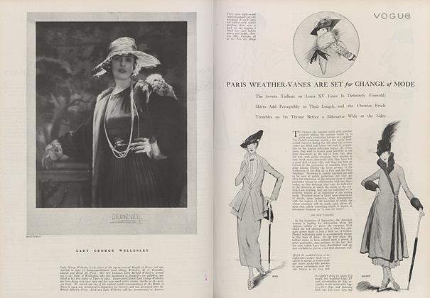Article Preview: Paris Weather-Vanes Are Set for Change of Mode, September 1 1919 | Vogue