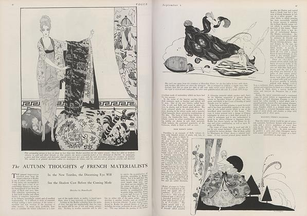 Article Preview: The Autumn Thoughts of French Materialists, September 1 1919 | Vogue