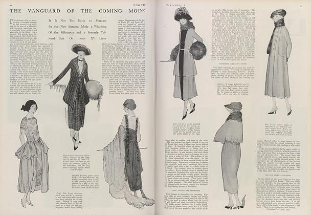 Article Preview: The Vanguard of the Coming Mode, September 1 1919 | Vogue