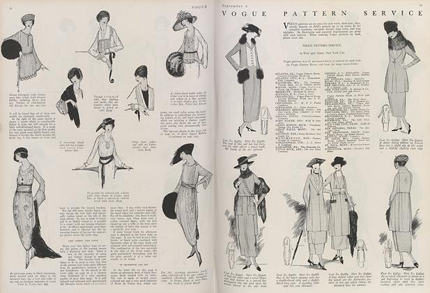 Article Preview: Vogue Pattern Service, September 1 1919 | Vogue