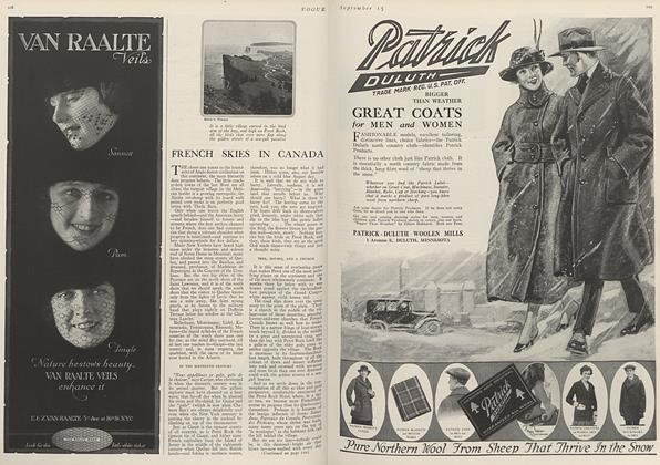 Article Preview: French Skies in Canada, September 15 1919 | Vogue