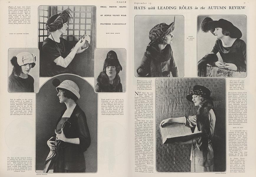 Hats with Leading Roles in the Autumn Review