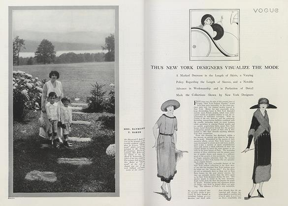 Article Preview: Thus New York Designers Visualize the Mode, October 1 1919 | Vogue