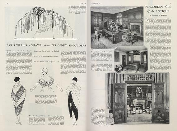Article Preview: The Modern Role of the Antique, October 1 1919 | Vogue