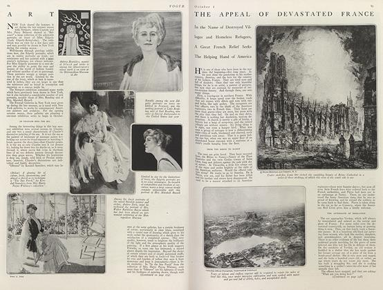 Article Preview: The Appeal of Devastated France, October 1 1919 | Vogue