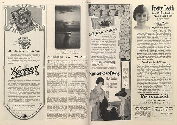Article Preview: Pleasures and Pyramids, October 1 1919 | Vogue