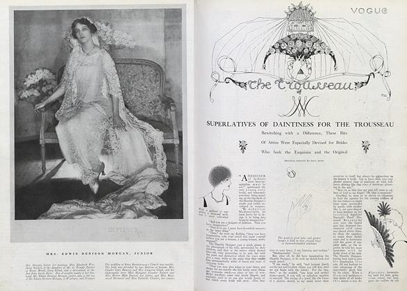 Article Preview: Superlatives of Daintiness for the Trousseau, April 1 1920 | Vogue