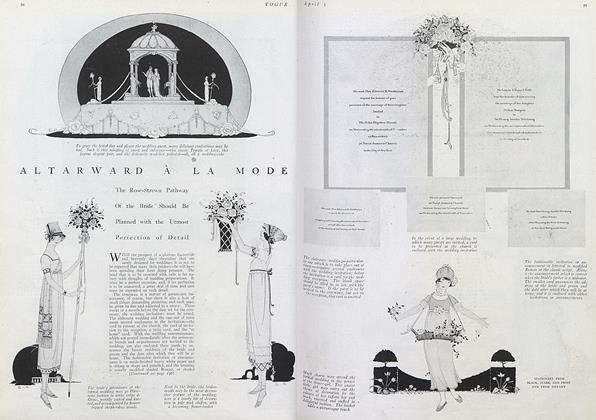 Article Preview: Altarward a la Mode, April 1 1920 | Vogue