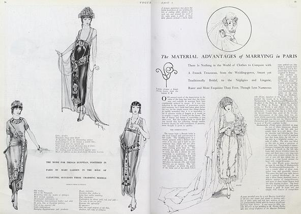 Article Preview: The Material Advantages of Marrying in Paris, April 1 1920 | Vogue