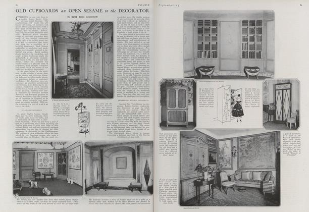 Article Preview: Old Cupboards an Open Sesame to the Decorator, September 15 1920 | Vogue